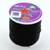 Clear & Black Stretch Magic Bulk Roll Beading & Jewelry Cord Sizes 0.5mm, 0.7mm 1mm - artcovecrafts.com