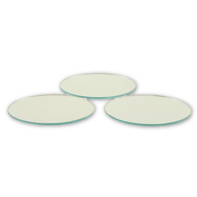 2.5 inch Glass Craft Small Round Mirrors 3 Pieces Mirror Mosaic Tiles - artcovecrafts.com