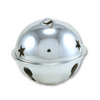 2.75 Inch 70mm Jumbo Large Silver Jingle Bell with Star Cutouts 1 Piece - artcovecrafts.com