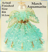 March Birthstone Angel Christmas Ornament Kit - artcovecrafts.com