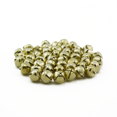 0.5 Inch 13mm Small Mini Craft Jingle Bells Charms 48 Pieces - artcovecrafts.com
