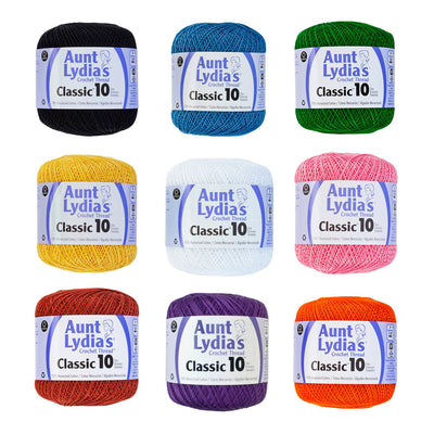 Aunt Lydia's Crochet Thread Size 10 - 48 Colors Available - artcovecrafts.com