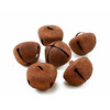 25mm 1 inch Rustic Rusty Large Craft Jingle Bells 6 Pieces - artcovecrafts.com