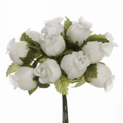 Ivory Mini Rose Buds 144 Pieces - artcovecrafts.com