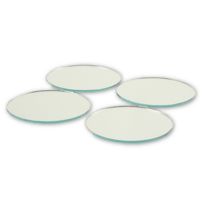 2 Inch Mini Glass Craft Small Round Mirrors 5 Pieces Mosaic Mirror Tiles - artcovecrafts.com