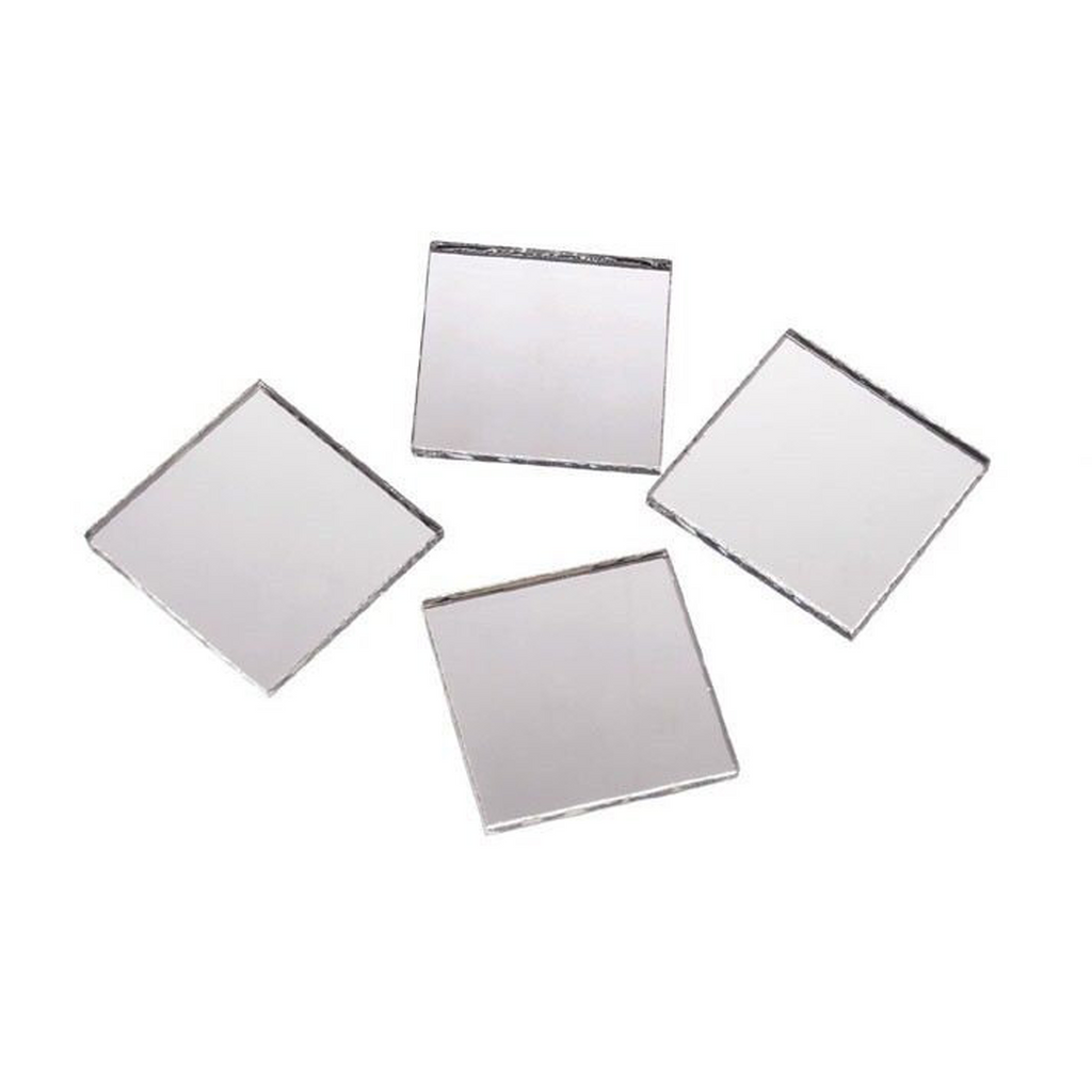 2 Inch Glass Craft Mini Square Mirrors 12 Pieces Square Mosaic Mirror Tiles - artcovecrafts.com
