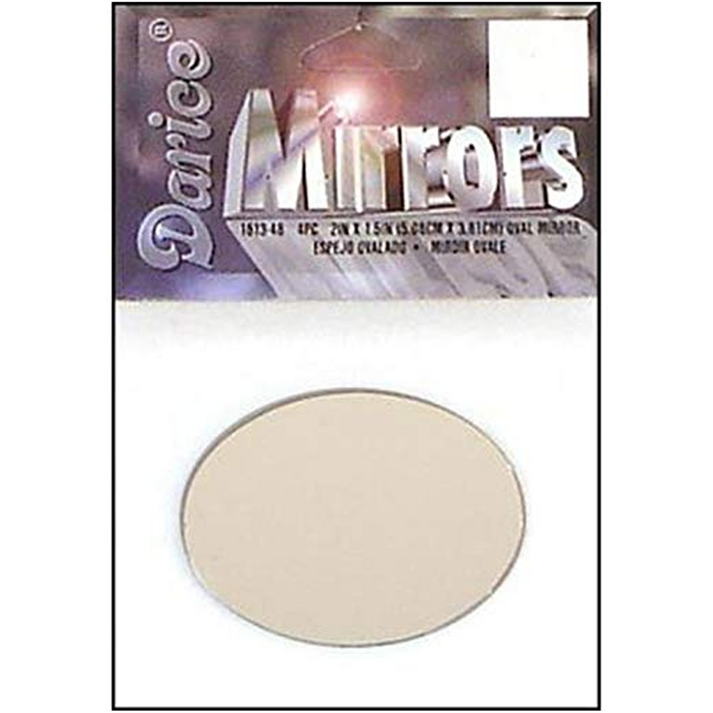 "2 x 1.5"" Darice Oval Mirrors 4 Pieces 1613-48 - artcovecrafts.com"