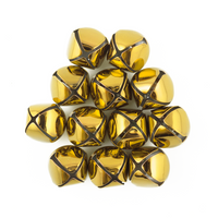 1.25 inch 30mm Large Gold Jingle Bells Bulk 100 Pieces - artcovecrafts.com