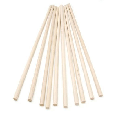 Wooden Dowel Rods 0.25 x 12 inches 10 pieces