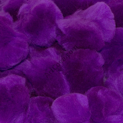 1.5 inch Purple Craft Pom Poms 50 Pieces - artcovecrafts.com