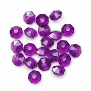 6mm Transparent Dark Purple Amethyst Rondelle Faceted Beads 480 Pieces - artcovecrafts.com