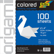 Folia Solid Origami Paper White 6x6 inch 100 Sheets