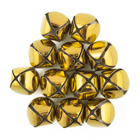 1.5 Inch 36mm Extra Large Giant Jumbo Gold Craft Jingle Bells 2 Pieces - artcovecrafts.com