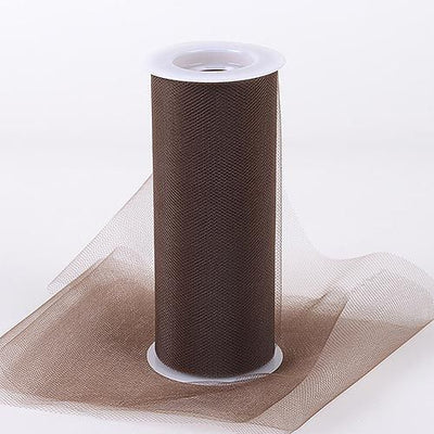 Brown Tulle 6 inch Roll 25 Yards - artcovecrafts.com
