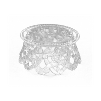 3.5 Inch Clear Plastic Ornament Base For Cake Topper Base & Favors 12 Pieces - artcovecrafts.com