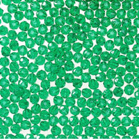 10mm Transparent Christmas Green Faceted Beads 144 Pieces - artcovecrafts.com