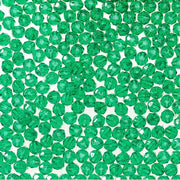 12mm Transparent Christmas Green Faceted Beads 144 Pieces - artcovecrafts.com