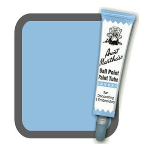 Light Blue Aunt Martha's Ballpoint Embroidery Fabric Paint Tube Pens 1 oz - artcovecrafts.com