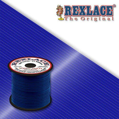 Royal Blue Plastic Rexlace 100 Yard Roll - artcovecrafts.com