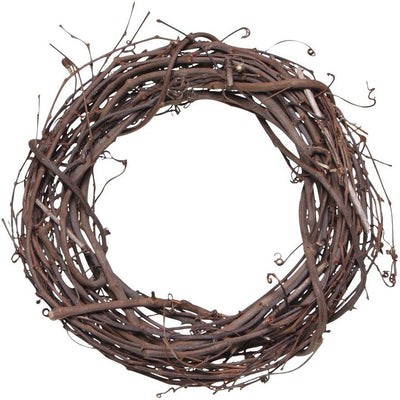 12 inch Natural Large Grapevine Wreath 1 Piece - artcovecrafts.com