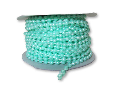 4mm Mint Green Plastic Fused Pearls Garland Strands for Decorating & Crafts 24 Yards - artcovecrafts.com