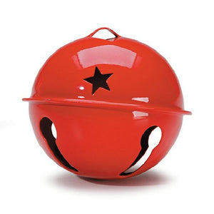 Darice Red Craft Bell with Stars 1 Piece 10705 - artcovecrafts.com