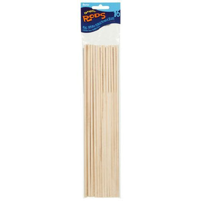 Wooden Dowel Rods 3/16 x 12 inches 16 pieces
