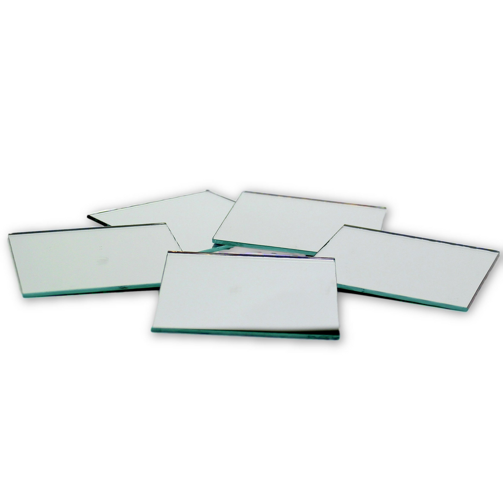 3 inch Glass Craft Small Square Mirrors Bulk 50 Pieces Mosaic Mirror Tiles - artcovecrafts.com