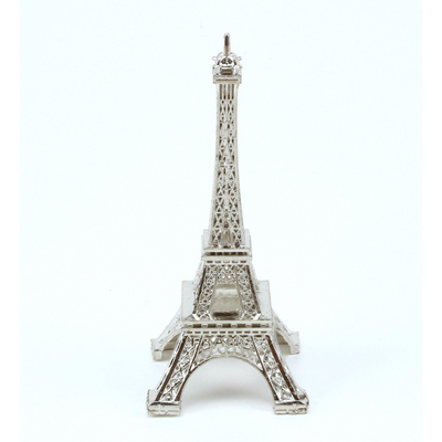 3 inch Silver Mini Eiffel Tower Figurine 1 Piece - artcovecrafts.com