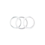 3 inch Clear Plastic Acrylic Craft Rings 5/16 inch Thick 12 Pieces - artcovecrafts.com
