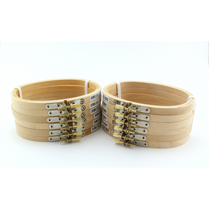 3 x 5 inch Small Oval Wooden Hand Embroidery Hoops Bulk 12 Pieces - artcovecrafts.com