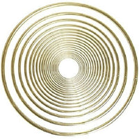 8 Inch Gold Metal Craft Ring 1 Piece - artcovecrafts.com