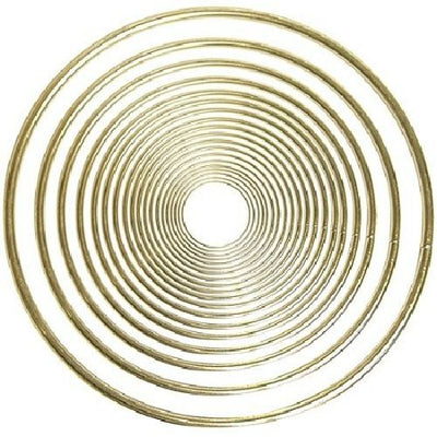 12 Inch Gold Large Metal Craft Ring 1 Piece - artcovecrafts.com