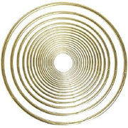 10 Inch Gold Metal Craft Ring 1 Piece - artcovecrafts.com