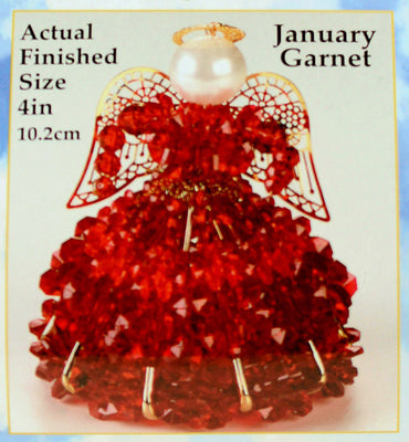 January Birthstone Angel Christmas Ornament Kit - artcovecrafts.com