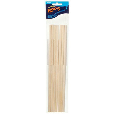 Wooden Dowel Rods 5/16 x 12 inches 7 pieces
