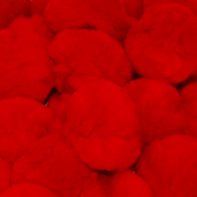 2 Inch Red Craft Pom Poms 25 Pieces - artcovecrafts.com