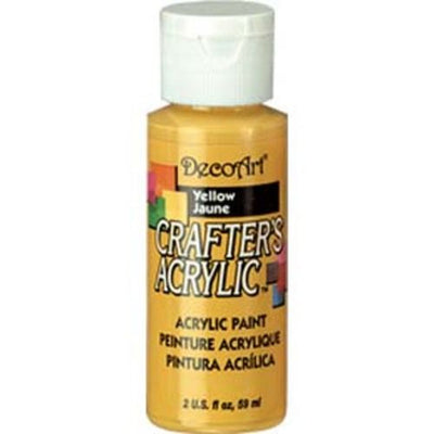 DecoArt Crafters Acrylic Paint-Yellow 2 oz.