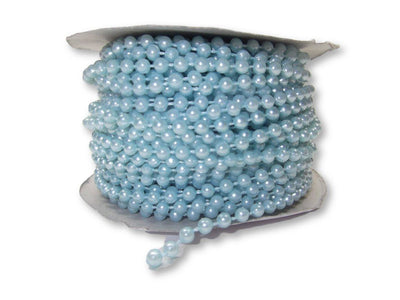 4mm Light Blue Plastic Fused Pearls Garland Strands for Decorating & Crafts 24 Yards - artcovecrafts.com