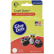 0.5 inch Glue Dots Craft Dot Roll 200 Clear Dots