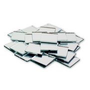 1 inch Small Mini Square Craft Mirror 25 Pieces Mirror Mosaic Tiles - artcovecrafts.com
