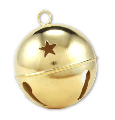 80mm Darice Gold Bell with Stars 1 Piece 1105-59 - artcovecrafts.com