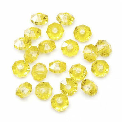 6mm Transparent Sun Gold Rondelle Faceted Beads 480 Pieces - artcovecrafts.com