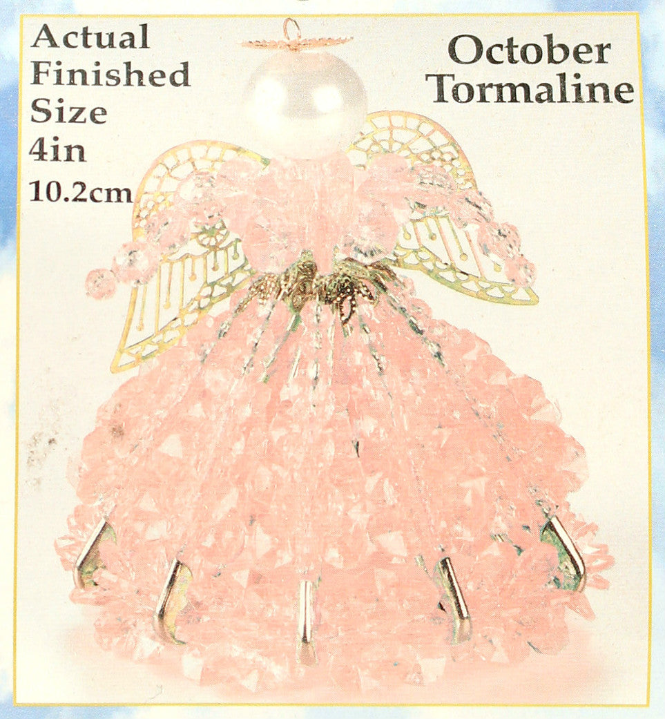 October Birthstone Angel Christmas Ornament Kit - artcovecrafts.com