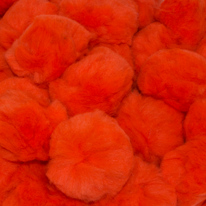 1.5 inch Orange Craft Pom Poms 50 Pieces - artcovecrafts.com