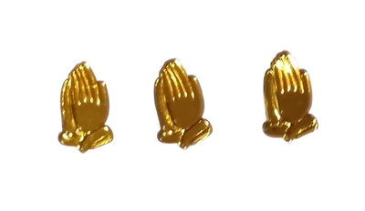 Gold Acrylic Praying Hands Acrylic Charms Capias 24 Pieces