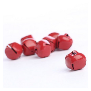 5/8 Inch 16mm Darice Red Craft Small Jingle Bells 8 Pieces 1090-23 - artcovecrafts.com