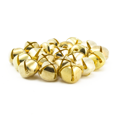 5/8 Inch 16mm Gold Craft Jingle Bells Bulk 144 Pieces - artcovecrafts.com