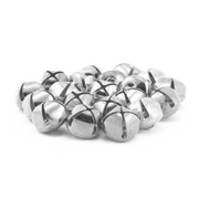 5/8 Inch 16mm Silver Craft Jingle Bells Bulk 144 Pieces - artcovecrafts.com