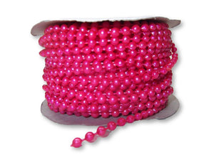 4mm Fuchsia Plastic Fused Pearls Garland Strands for Decorating & Crafts 24 Yards - artcovecrafts.com